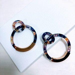 Jewelry - New - Acrylic Double Hoop Earrings - Blue